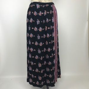 Patterned Maxi Wrap Skirt
